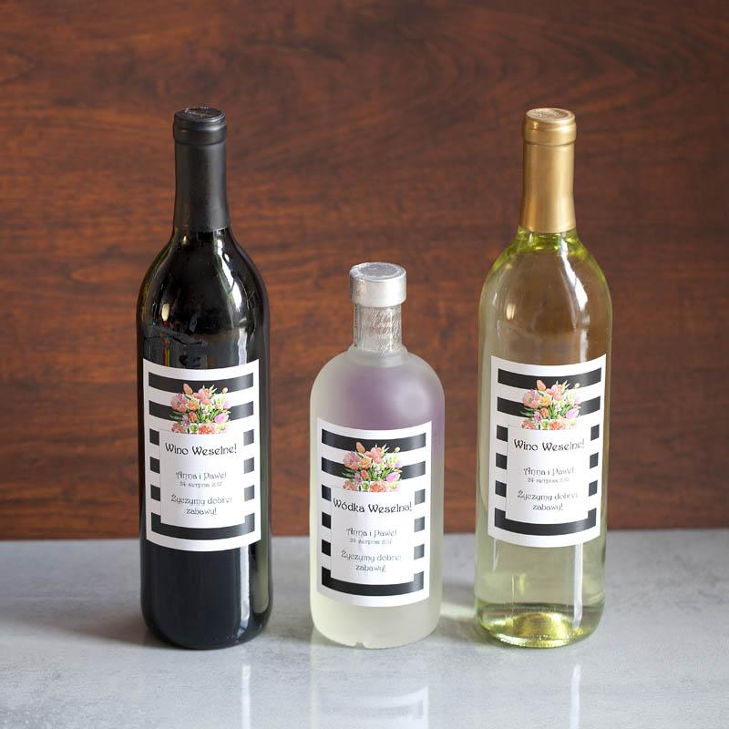 etykiety na alkohol paski