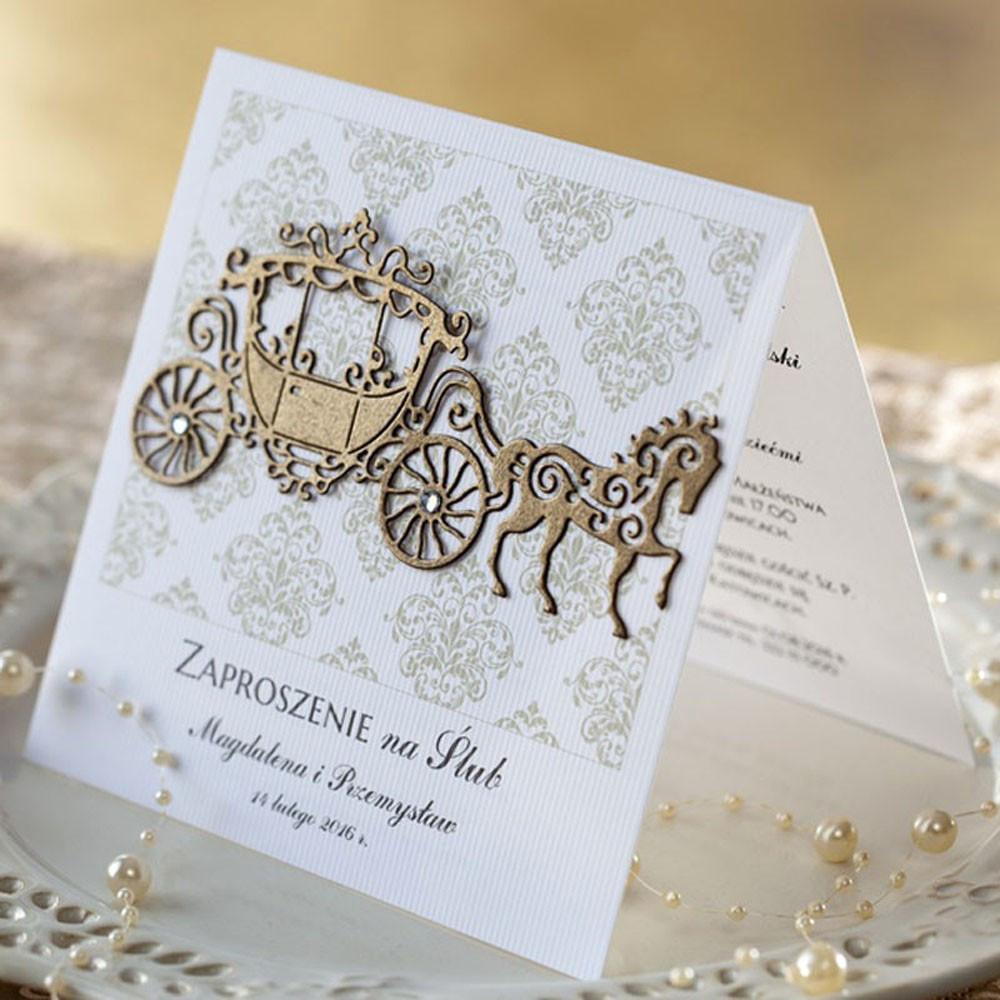 W superbly Zaproszenia ślubne Retro - RoyalDekor JB79