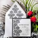 Zaproszenia ślubne oryginalna czerń