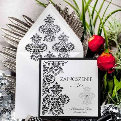 Zaproszenia ślubne Black & White
