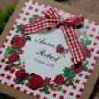 Zaproszenia ślubne Różana Kratka