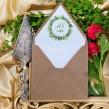 Zaproszenia ślubne Zielony Wianek