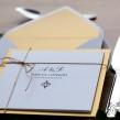 Zaproszenia ślubne Classic złote