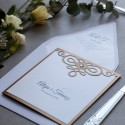 Zaproszenia - Diamentowe stare złoto