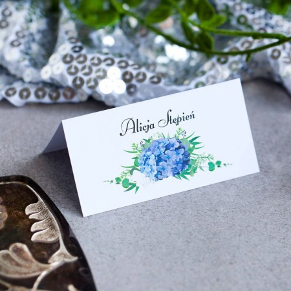 Winietki ślubne Elegancka Hortensja