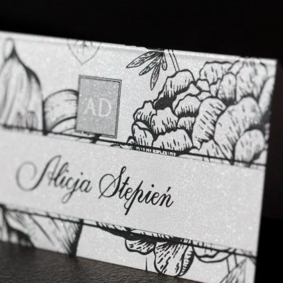 Winietki ślubne Węglem Malowane Soft