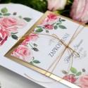 Zaproszenia ślubne Złote Lustro