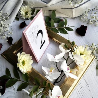 Numerek Classic wrzosowy róż