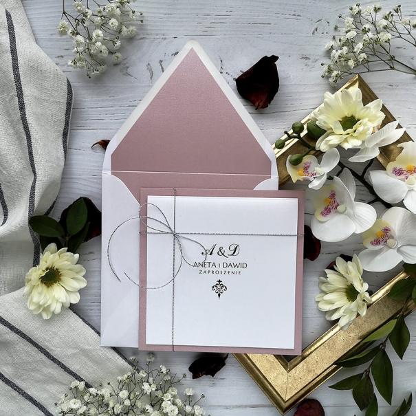 Zaproszenia ślubne Classic wrzosowy róż