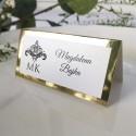 Winietki ślubne Glamour Gold
