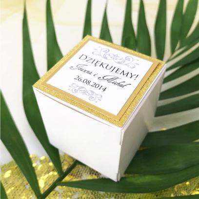 Pudełeczka dla gości Lady Brokat złote