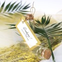 Buteleczka szklana z bilecikiem Lady Brokat złota
