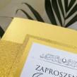 Zaproszenia ślubne Lady Brokat złote