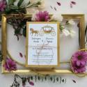 Zaproszenia ślubne Złote Retro