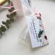 Buteleczka szklana z bilecikiem Romantyczne Anemony