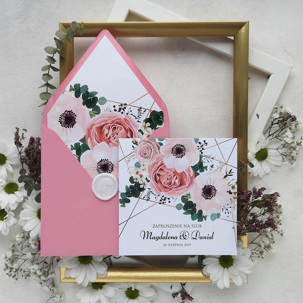 Wiosenna papeteria ślubna z kwiatowym motywem