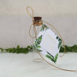 Buteleczka szklana z bilecikiem Elegancka Paprotka