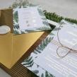 Zaproszenia ślubne Elegancka Paprotka