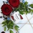 Pudełeczka dla gości Bordowe Piwonie