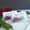 Winietki ślubne Bordowe Piwonie