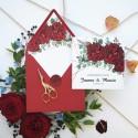 Zaproszenia ślubne Bordowe Piwonie