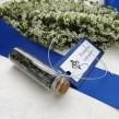 Buteleczka szklana z bilecikiem Classic granatowe