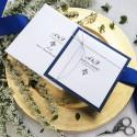 Zaproszenia ślubne Classic granatowe