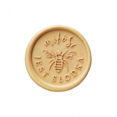Odbicie lakowe pszczoła