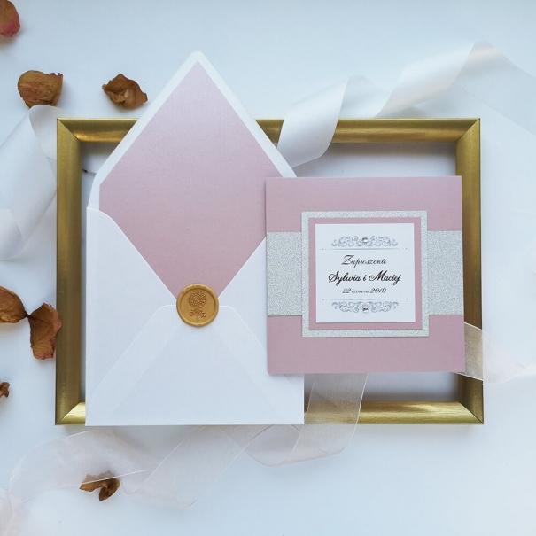 Zaproszenia ślubne Lady Brokat