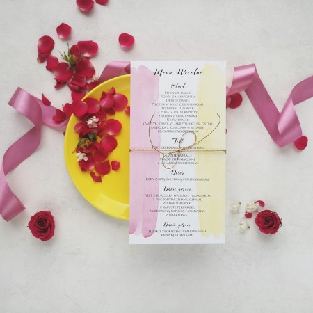 Menu Pink & Lemon