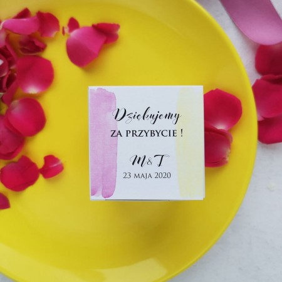 Pudełeczka dla gości Pink & Lemon