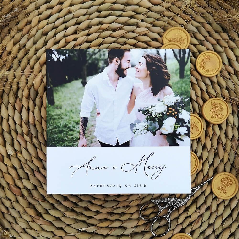 Tanie zaproszenie na ślub ze zdjęciem i personalizacją
