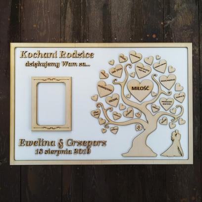 Drzewo z ramką na zdjęcie