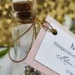 Buteleczka szklana z bilecikiem Stylowe Różane