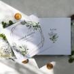 Zaproszenia ślubne Geometryczne Greenery