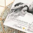Czarno białe zaproszenia ślubne ze zdjęciem