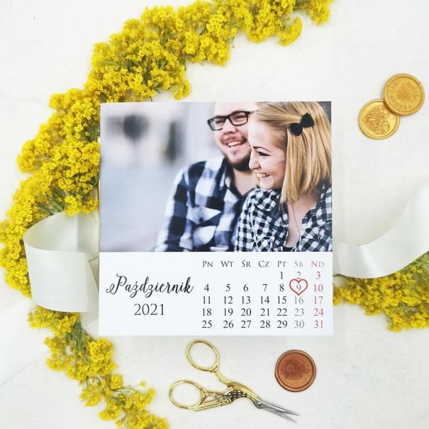 Zaproszenia na ślub ze zdjęciem i kalendarzem