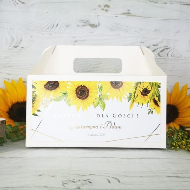 Pudełko na ciasto weselne z personalizacją