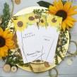 Karta dań na ślub złocone słoneczniki