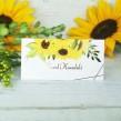Winietki ślubne na stół złocony słonecznik
