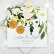 Zaproszenia ślubne kwiatowe z białą piwonią