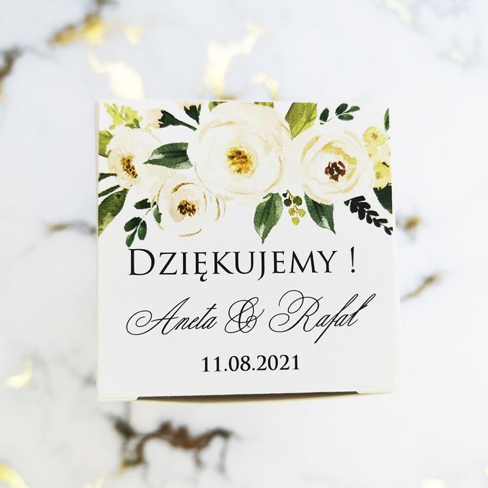 Zaproszenie weselne z papierem ozdobnym srebrnym i cyrkoniami