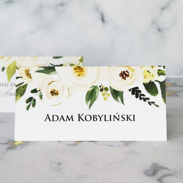 Winietka na stół weselny z kwiatami piwonii