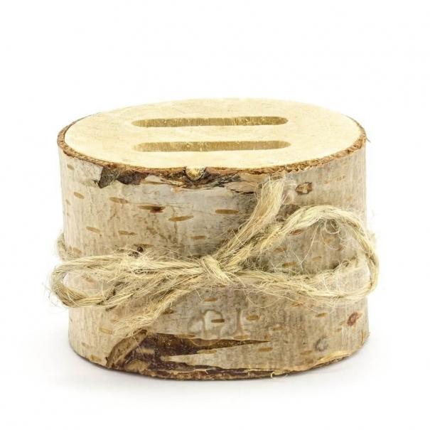 Brzozowa drewniana podstawka na obrączki ślubne