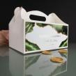Podziękowanie pudełko na ciasto zielono złote dla weselników