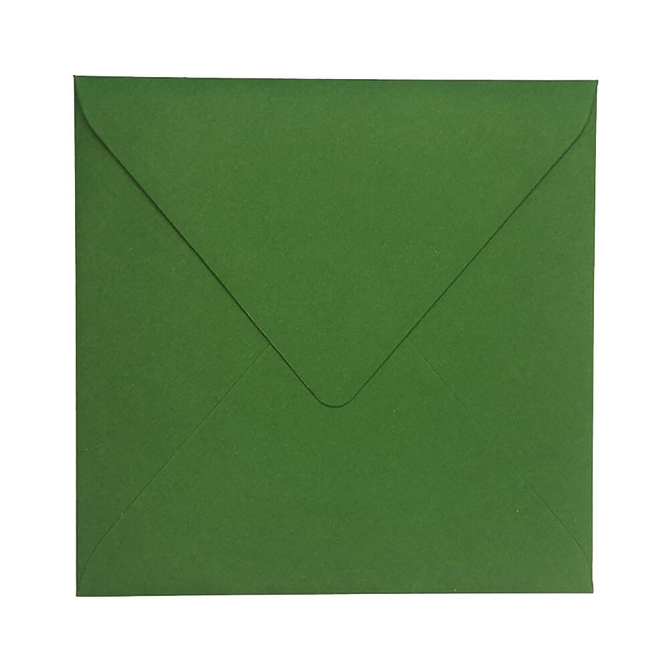 Modna koperta w kolorze butelkowej zieleni 155x155