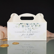 Pudełko na ciasto personalizowane z eukaliptusem