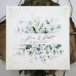 Księga wpisów gości weselnych z motywem eukaliptusa