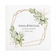 Księga dla gości weselnych z roślinnym motywem zielonych listków