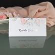 Elegancka winietka na stolik weselny ze srebrzonym napisem